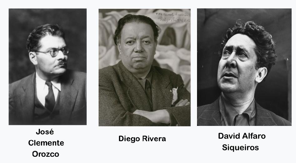 Jose Clemente Orozco Diego Rivera David Alfaro Siqueiros